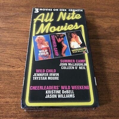 VHS - 3 on 1 All Nite Movies: Wild Child/Summer Camp/Cheerleaders' Wild Weekend