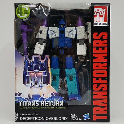 TRANSFORMERS TITANS RETURN DREADNAUT & DECEPTICON OVERLORD NEW IN BOX
