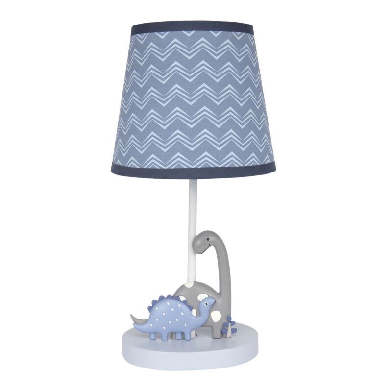 Bedtime Originals Roar Blue/Gray Dinosaur Nursery Lamp with Shade & Bulb