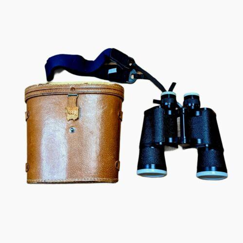 VTG SKYLINE 7 x 50 Field View Binoculars No.67424 With Original Leather Case