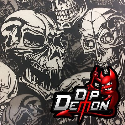 Angry Skulls W Transparent Hydrographic Water Transfer Film Hydro Dip Dipping