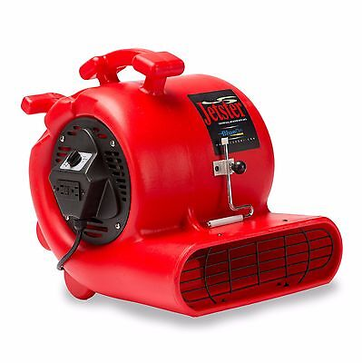 Bluedri Jetster 0.33 Hp Air Mover Carpet Dryer Blower Floor Fan With Clamp Red