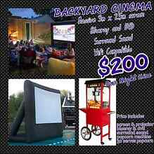 Outdoor Movie Cinema with a Commercial Popcorn Machine and MORE Brisbane City Brisbane North West Preview