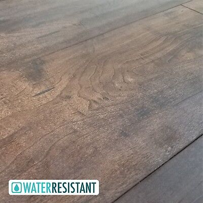 500 Square Feet of Rich Brown Maple Laminate Plank Flooring - Norhill 12MM Square Laminate Flooring