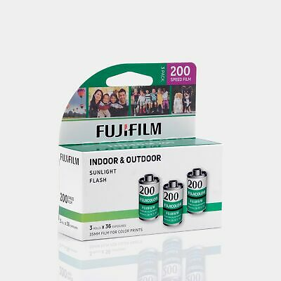 Fujifilm 200 35mm Color Film 36 Exposures - 3 Rolls