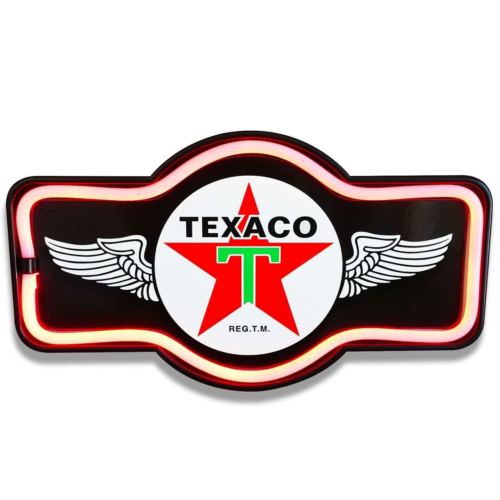 Texaco Black LED Neon Sign Marquee Shape - Bar, Garage, Man