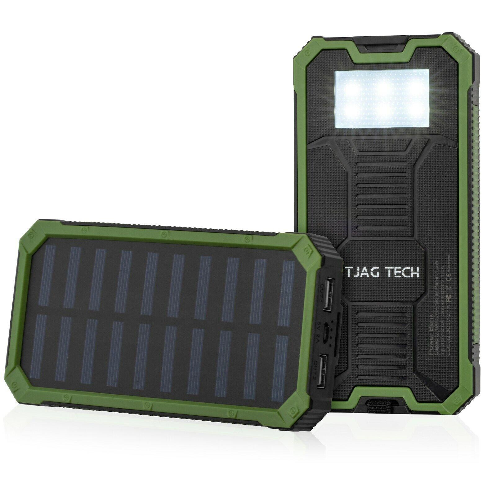 waterproof 10 000 mah solar charger dual