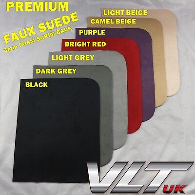 Faux Suede van car Foam Back,1.5m wide, headliners, linings, seats,camper van T5