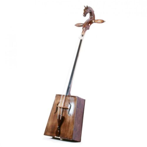 Mongolian horse head fiddle, Morin Khuur /Huur/ with bow. Hand Made in Mongolia