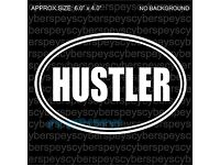 hustler funny jdm sticker vinyl decal for car and others FINISH GLOSSY