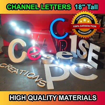 Store Sign - Custom Made Signage - Led Channel Letters 18 Tall Letters