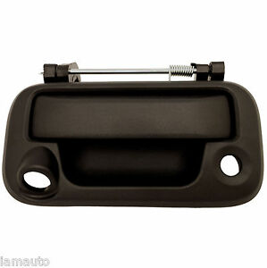 For Super Duty Tailgate Handle Black Textured Ford Pickup (Camera & Lock Hole)