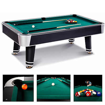 Pool Table Game Room 90 Inch Billiard Balls Cues Table With Bonus Accessory Kit