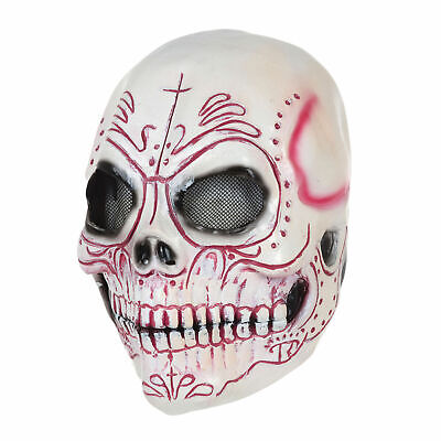 Adult Halloween Horror Over Head Skeleton Skull Day - Adult Day Of The Dead Skull Maske