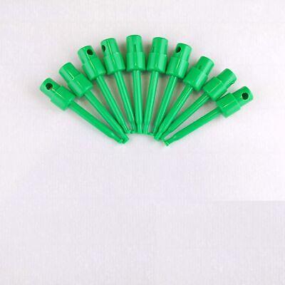 10x Green 2.3 Test Clip Smd Grabber Ic Hook Multimeter Probe 5.7cm Usa