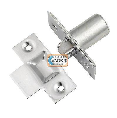 - NICKEL Adjustable Roller Catch Mortice Door Spring Ball Latch with Strike Plate
