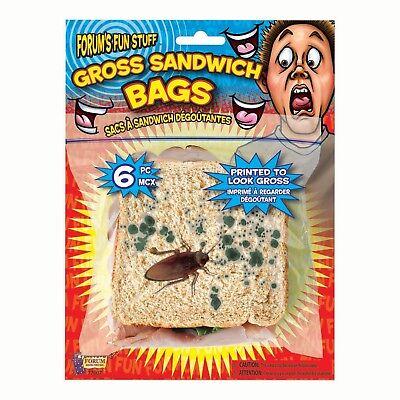 Orribile Grossi Scarafaggio Sandwich Borse Confezione di 4 Costume Scherzo