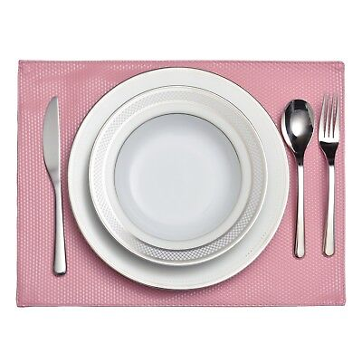 "Set of 6 Seneca Faux Leather Machine Washable Table Placemats 11""x17"" Placemats for sale  Shipping to Nigeria"