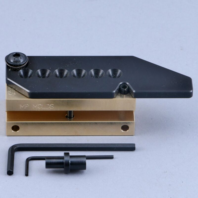 MP Bullet Mold 6 Cavity Brass Mold For 9mm 147 Grain Round Nose Bevel Base