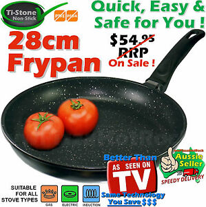 ★MARBLE COATED NON STICK FRYPAN★Pan★Cookware★Induction ★★Ceramic★28 cm* marble