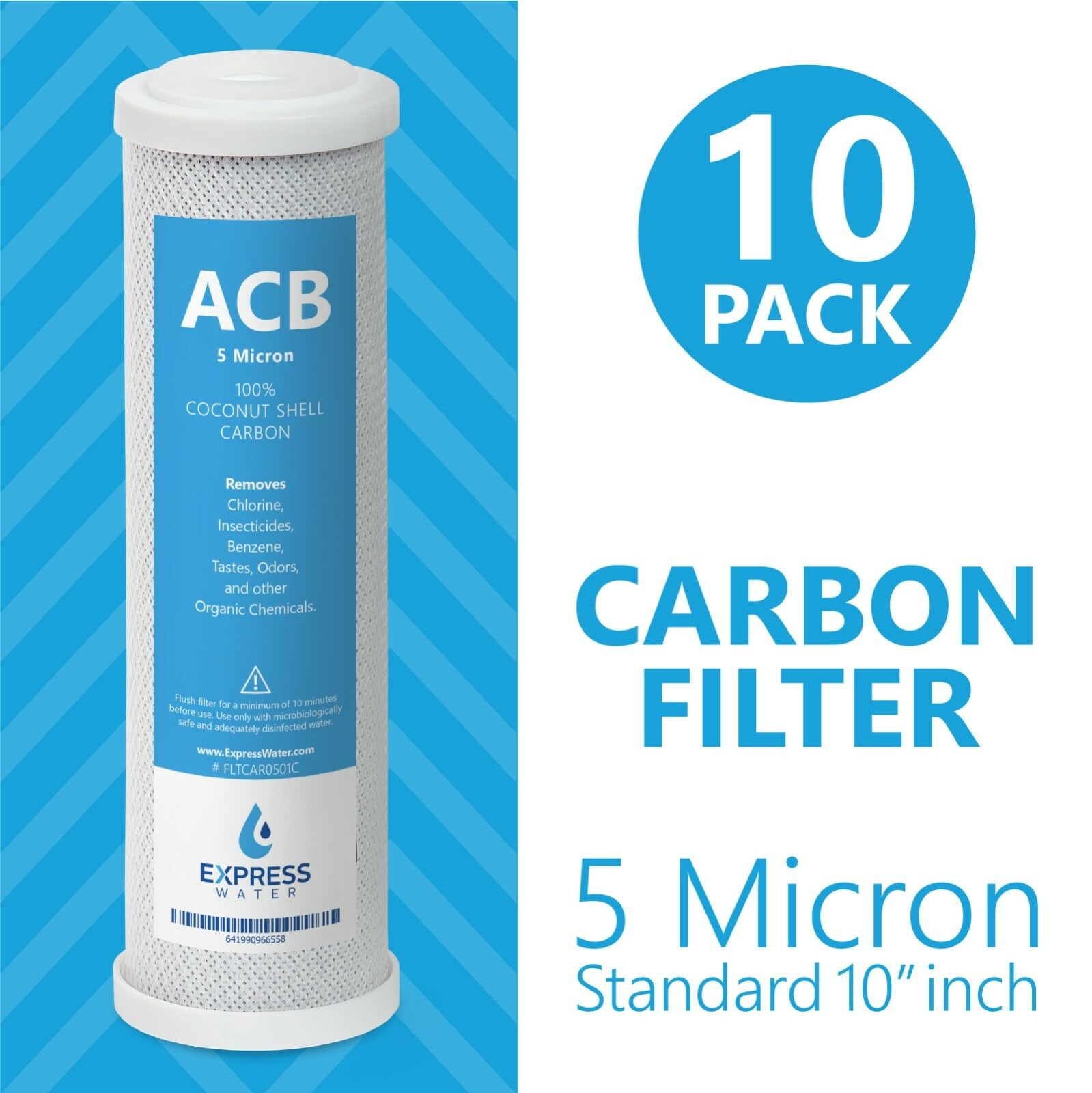 Activated Carbon Block Water Filter Replacement – 10 inch