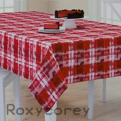 Celebrate Valentine's Day Red & White Heart Jacquard 60x84 Oblong Tablecloth NWT for sale  Sandy Hook