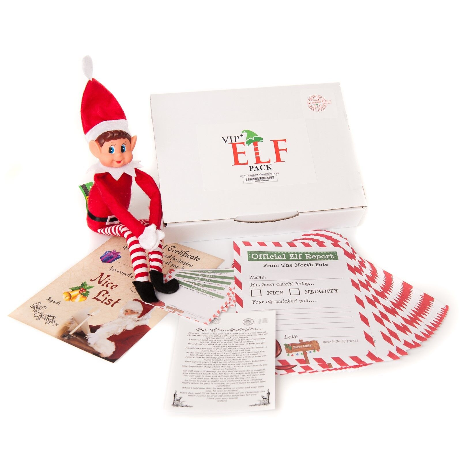 Vip Elf Pacote Com Certificado De Lista De Nice 24 Letra De Relatorios Natal Menino Ebay