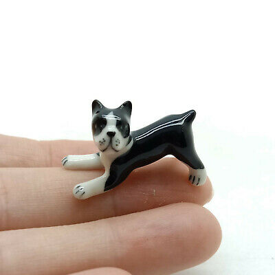 Boxer Dog Ceramic Figurine Animal Miniature Baby Statue  - CDG015 for sale  Shipping to United States