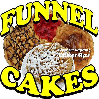 Funnel Cakes Decal Choose Your Size Food Truck Concession Vinyl Sign Sticker
