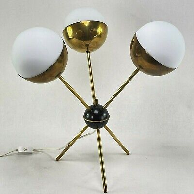 Mid Century Sputnik Table Lamp Vintage Lamp Desk Lamp Tripod Italy