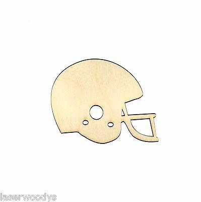 Football Helmet Unfinished Wood Shape CutOut FBH1196 Crafts Lindahl Woodcrafts   (Football Helmet Cutouts)