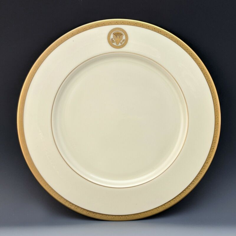 Lenox US Vice Presidential Dinner Plate Clinton Gore Bush Cheney White House
