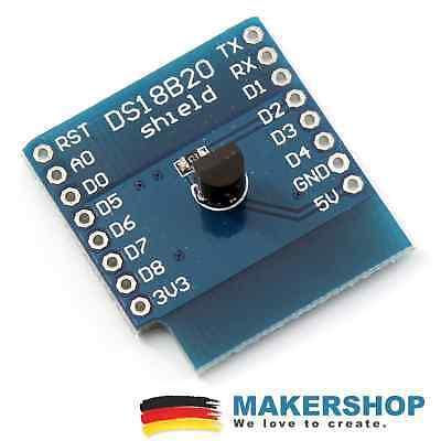 Ds18b20 Shield Temperatur Fr Wemos D1 Mini Messen Erweiterung Board Arduino