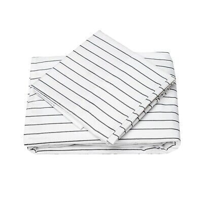 Classic Stripe Sheet Set (Cosy House Collection Classic Pinstripe Pattern Striped Bed Sheet Set )