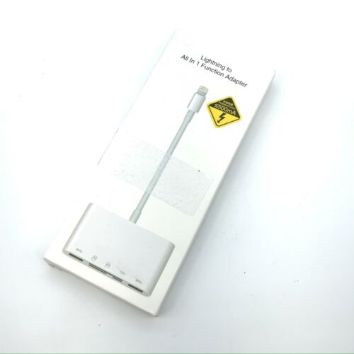 Lightning To All in 1 Card Reader Adapter - White NK-1032