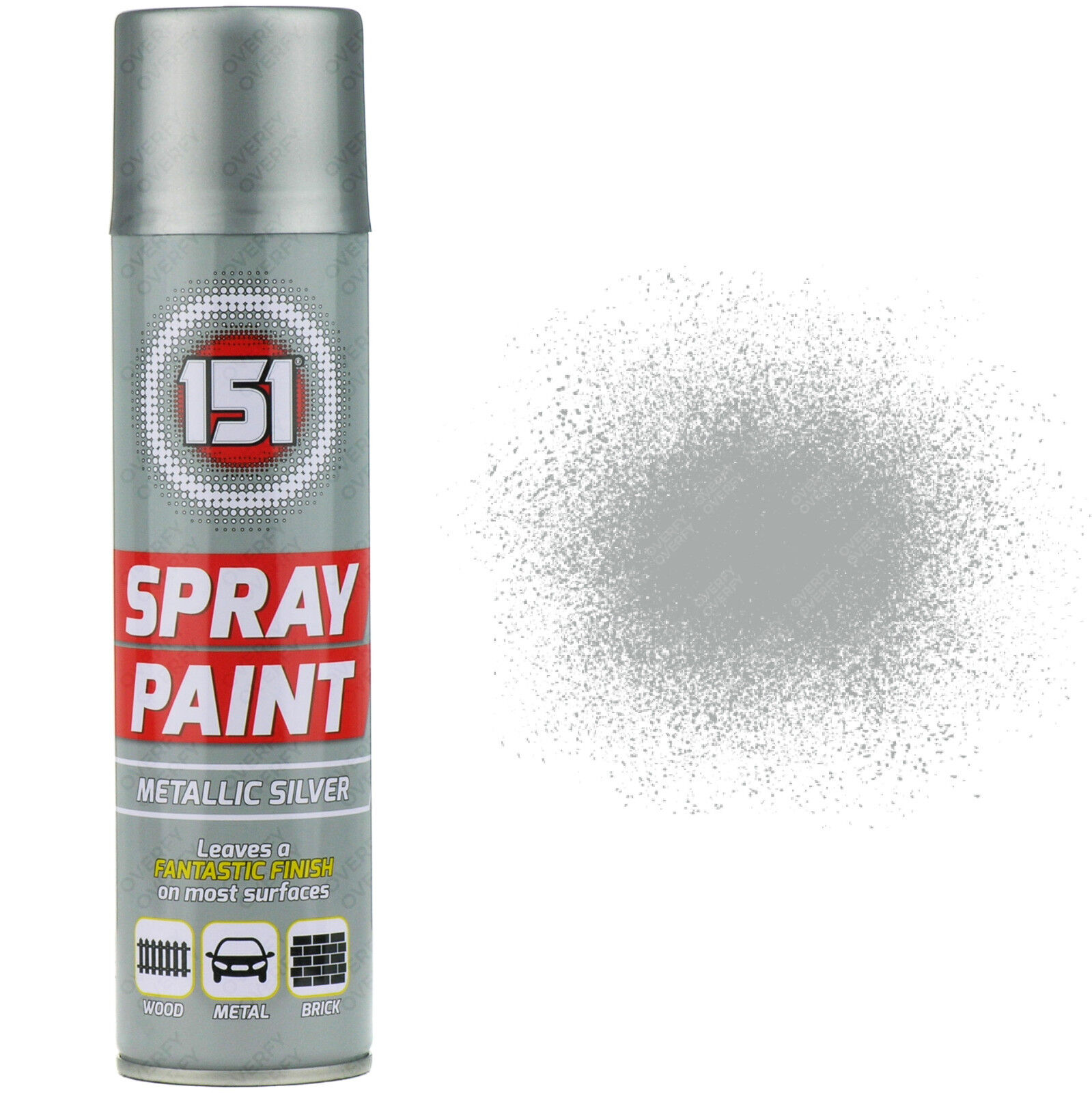3 x 250ml 151 metallic silver aerosol paint spray cars wood metal walls graffiti ebay Spray paint for metal