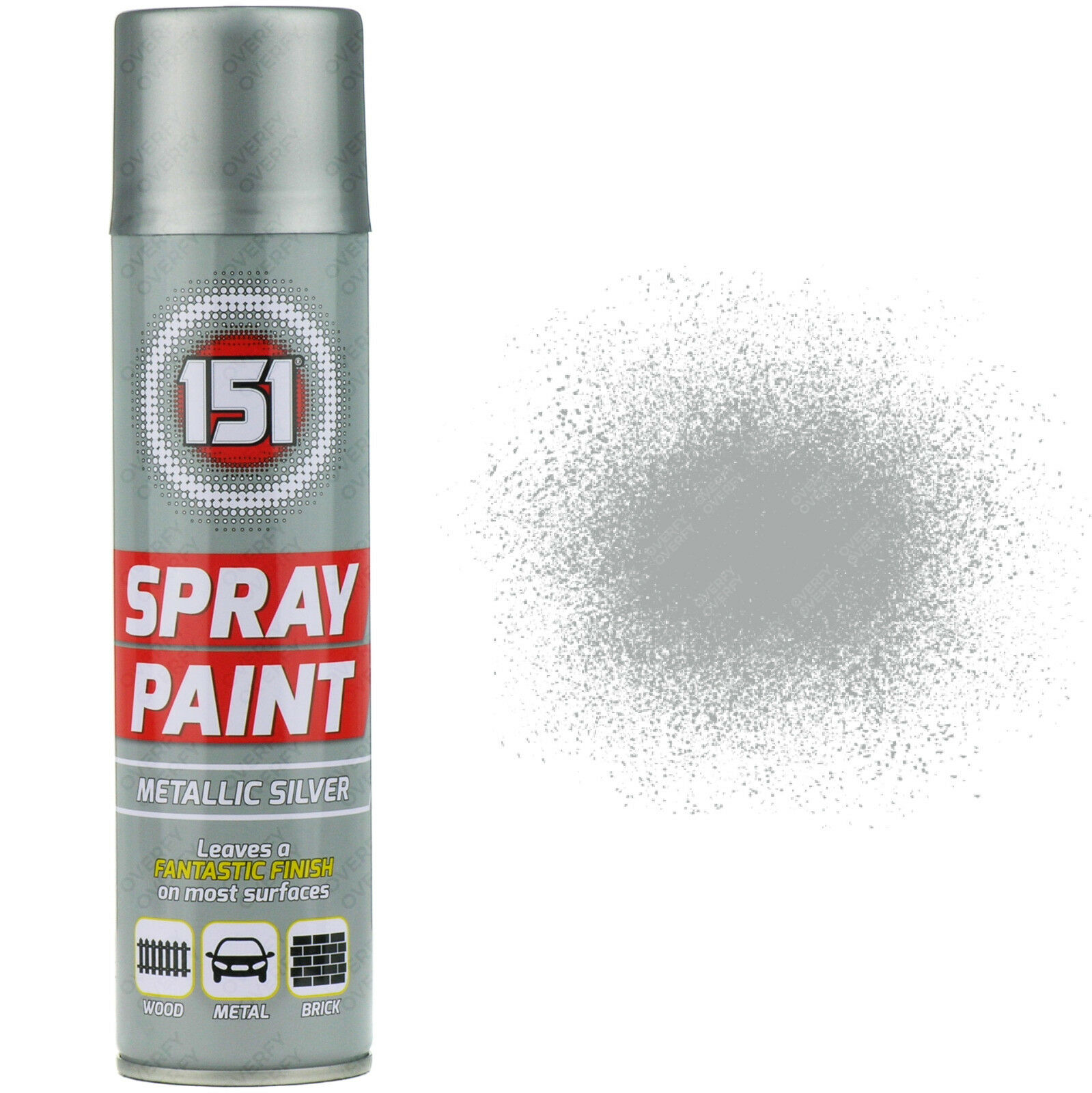 3 X 250ml 151 Metallic Silver Aerosol Paint Spray Cars Wood Metal Walls Graffiti Ebay