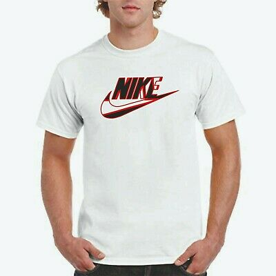 NIKE ABSTRACT LOGO T-shirt, Nike logo on white T,
