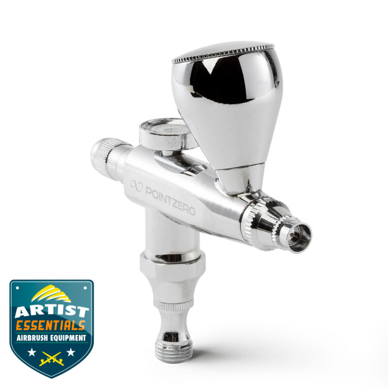 Stubby Single Action Gravity Feed Airbrush