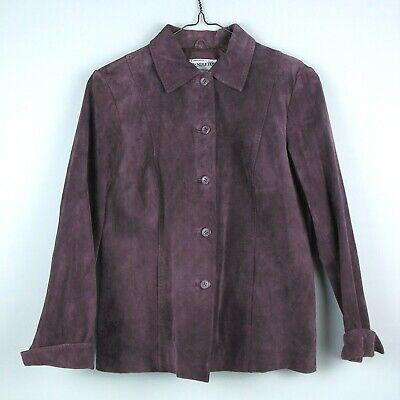 Pendleton Women's Size Small Purple 100% Leather Blazer Suit Jacket