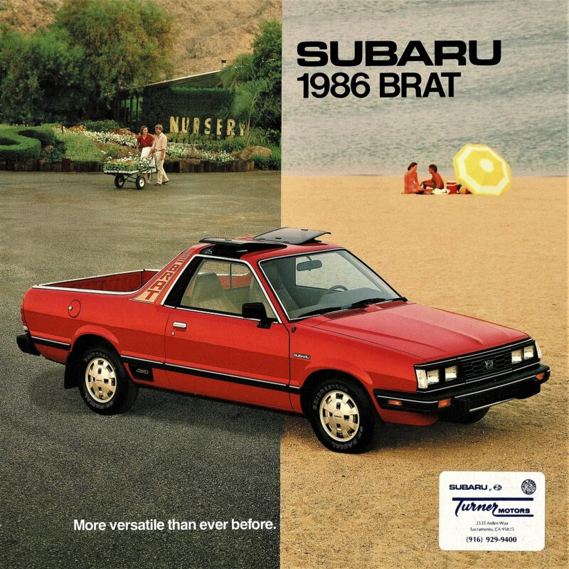 1986 Subaru Brat GL Vintage Sales Brochure - Rare!