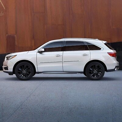 PAINTED BODY SIDE Moldings With BLACK TRIM Insert For: ACURA MDX 2016-2020 Mdx Body Side Molding