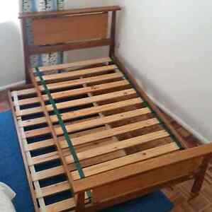 King Single Bed Frame and matching Single Roll away trundle base Hurlstone Park Canterbury Area Preview