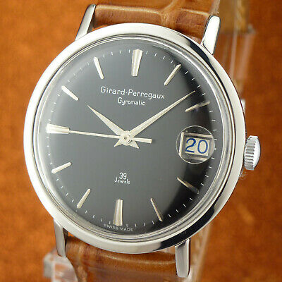 Excellent Vintage GIRARD-PERREGAUX GYROMATIC 39 Jewels - Size 34mmØ - from 1960'