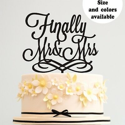 Wedding Cake Decorating Supplies (Wedding Cake Topper Finally Mr and Mrs Gold Wedding Cake Decorating Supplies)