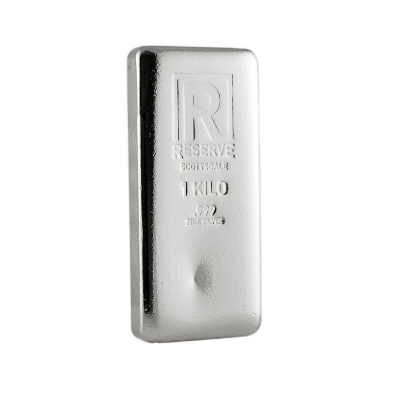 1 Kilo Silver Bar - RESERVE by Scottsdale Mint .999 Silver #A213