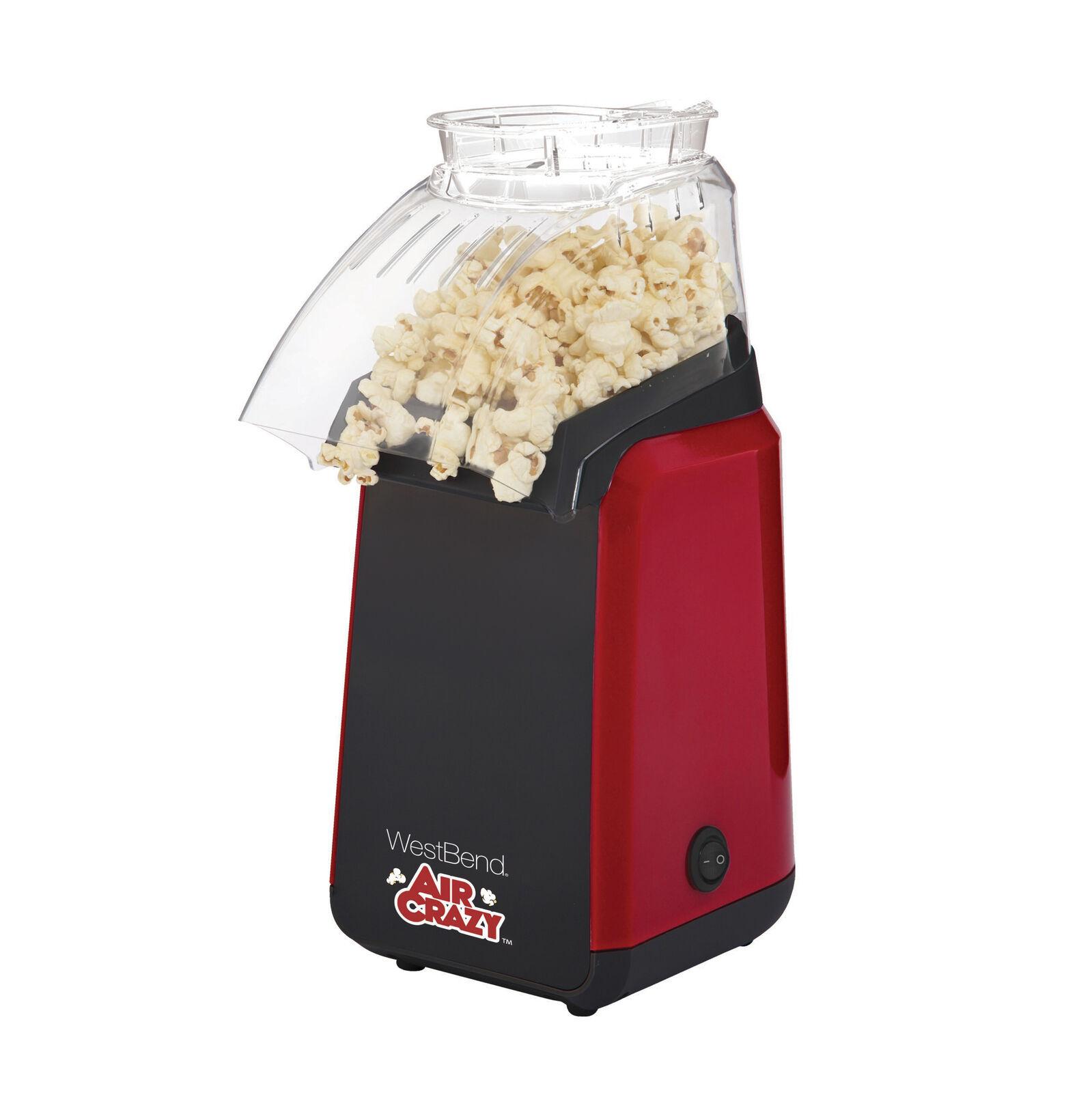 West Bend 82418BK Air Crazy Hot Air Popcorn Popper Pops Up T