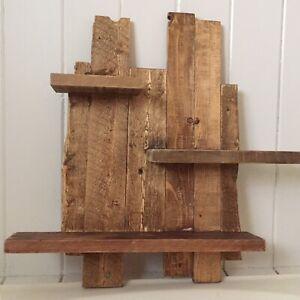 Small rustic pallet shelf