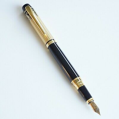 HERO 8007 Deluxe White Fountain Pen /'Great Wall/' Pattern /& Gold Trim UK SOLD!