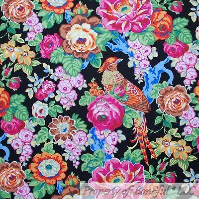 BonEful Fabric Cotton Quilt Black Rainbow Bright Flower Tropical Bird Sale SCRAP - Kids Rainbow Bright Costume